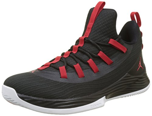 Nike Jordan Ultra Fly 2 Low, Chaussures de Basketball Homme - Noir (Black/University Red/White 001), 43 EU