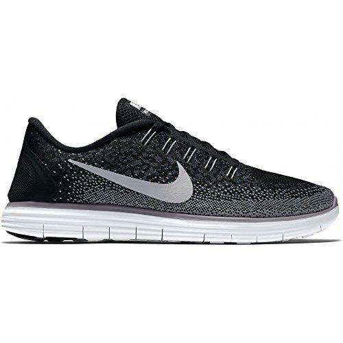 Nike Wmns Free RN Distance, Chaussures de Running Entrainement Femme Black/White-Dark Grey-Wolf Grey