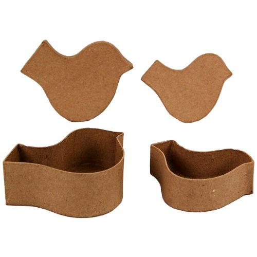 Country Love Crafts Aufbewahrungsboxen in Vogel-Form, Pappmaché (Pappmaché-formen)