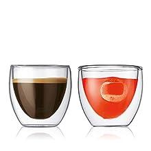 Bodum PAVINA Double Walled Thermo Glasses 0.08 L, 2.5 oz, Pair