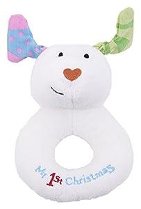 Rainbow Designs sm1368el muñeco de mi 1st Navidad de Jingle Bell Anillo sonajero