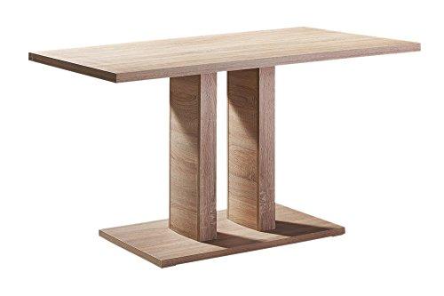 Afydecor Four Seater Dining Table Having Flat Rectangular Design - Brown