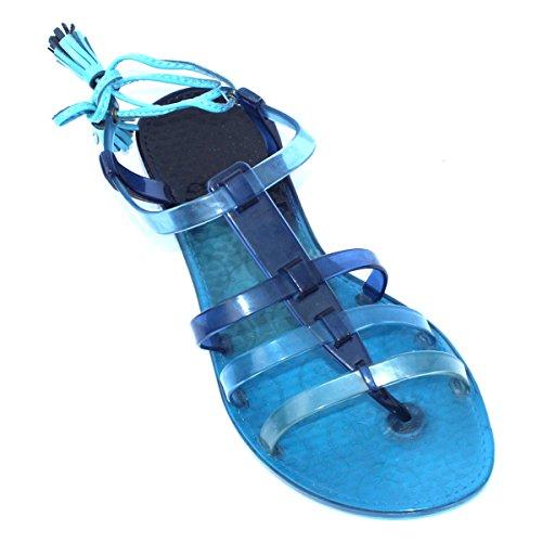 Juicy Couture punta-Post in sandali, taglia 3 -  3,5 DA £78 Blu (Blu)