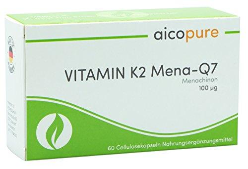 VITAMIN K2 100 µg • Menaquinon MK7 • 95% all-trans Menaquinon-7 • vegan • Kapseln • Made in Germany (60 Kapseln) (Sulfat-salbe)