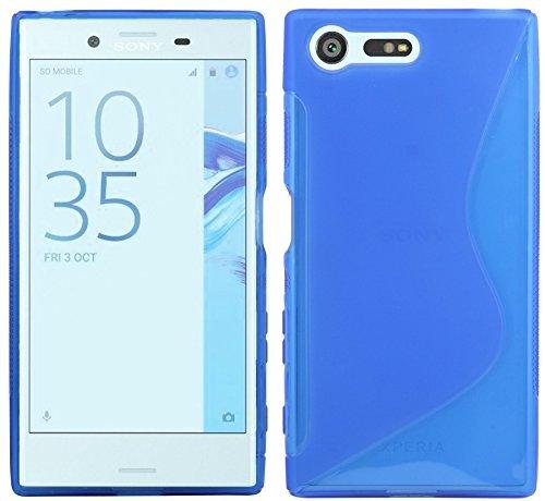 S-Line TPU SchutzHülle für Sony Xperia XCompact Silikon Hülle Cover Case Bumper Gummi-Hülle in Blau @ Energmix
