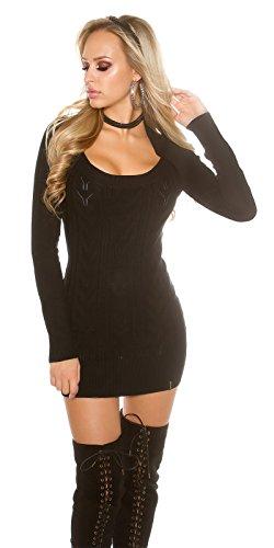 In-Stylefashion - Robe - Femme noir Schwarz taille unique Schwarz