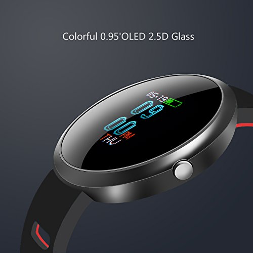 Fitness Tracker CHENGXI 096 OLED Colorful Display SmartWatch With Blood Pressure Health Monitor Smart Watch Wristband Bracelet Heart Rate Pedometer Activity Tracker With Alarm Step Tracker Calorie C