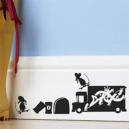Lustige 3d maus loch wandaufkleber kinderzimmer küche schlafzimmer dekoration vinyl wandtattoo diy cartoon ratte tier mural art