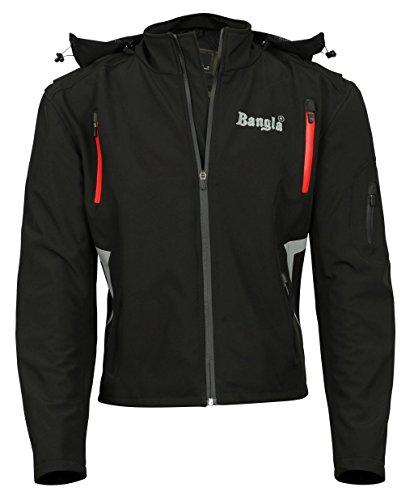 Preisvergleich Produktbild Soft Shell Motorradjacke Touren Jacke Bangla 1113 schwarz rot L