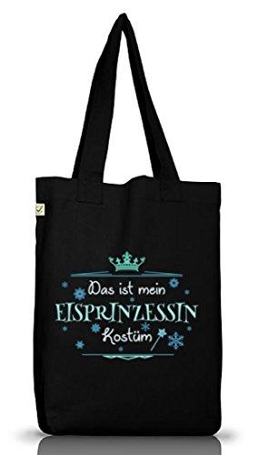 Eisprinzessin Jutebeutel für Prinzessinkostüm Karneval Fasching Black