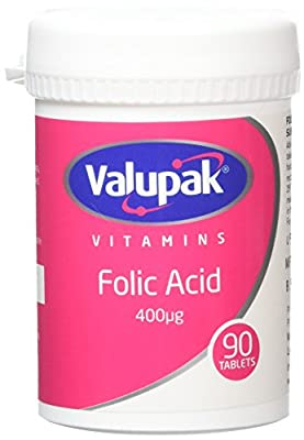 Valupak Vitamins Supplements Folic Acid 400mcg 90 Tablets from BR Pharmaceuticals