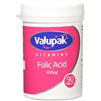 Valupak Vitamins Supplements Folic Acid 400mcg 90 Tablets