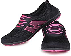 Sparx Womens Black and Pink Running Shoes (SL-73) (5 UK)