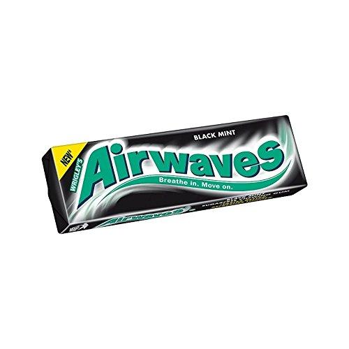 Wrigley Airwaves Schwarz Minzgeschmack Ohne Zucker Kaugummi 14G Packung Von 30