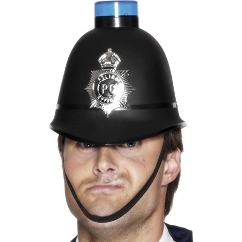 Police Helmet with Flashing Blue Light (gorro/ sombrero)