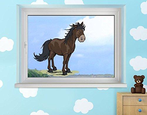 Klebefieber Fenstersticker Horse Club - Rappe B x H: 50cm x 46cm