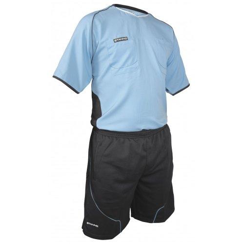 Stanno Lazio Schiedsrichter-Set Trikot und Hose hellblau-grau sky blue-anthrazit, M