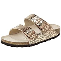 Birkenstock Arizona Gator, Women's Fashion Sandals, Gold (Metallic Stones Copper), 39 EU