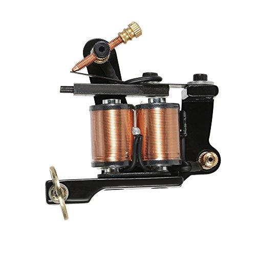 Anself Tattoo Maschine Tätowiermaschine mit Zink-Legierung Rahmen 6000rpm