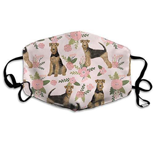 Breed Pet Quilt D Quilt Floral Coordinate Quilt Dog Anti Dust Mask Washable Wiederverwendbare Mouth Masken ()