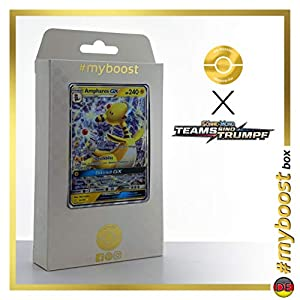 Ampharos-GX 43/181 - #myboost X Sonne & Mond 9 Teams Sind Trumpf - Box de 10 Cartas Pokémon Alemán