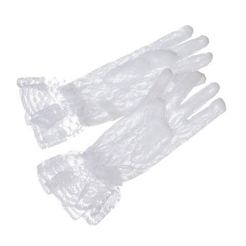 Bulk Buy: Darice DIY Crafts Victoria Lynn Children's Gloves Stretch White Lace 6 inches (6-Pack) 35803 by Darice Bulk Buy
