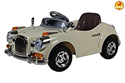 Baybee Classic Vintage Breaker Battery Operated Car (Beige)