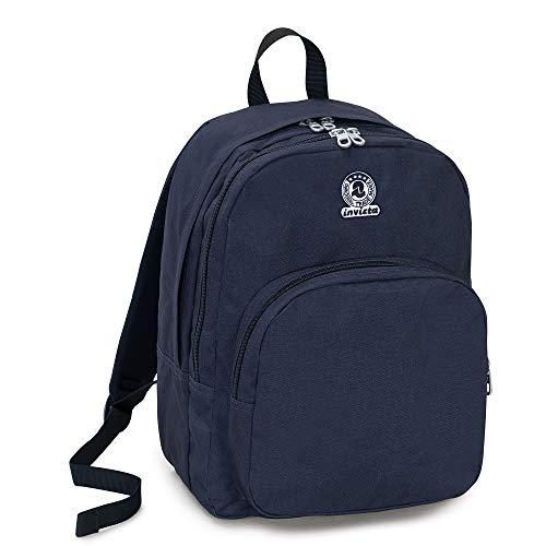 Zaino invicta benin m eco-material, nero, 28 lt, doppio scomparto, tasca porta laptop fino 15'', scuola & tempo libero