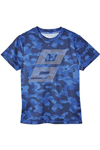 Crivit® Jungen Funktionsshirt T-Shirt Shirt Sportshirt Cooler Look Blau/Print 134/140 -