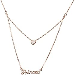 Aaishwarya Love Bling Princess Layered Pendant Necklace/Chain For Women & Girls