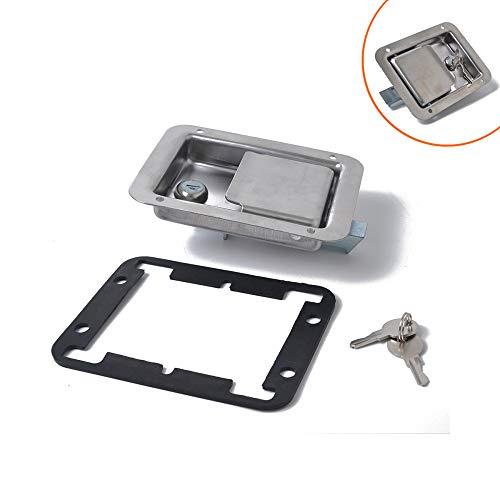 WWCAR Rimorchio in acciaio inox auto lock Tool Box in acciaio inox porta blocco blocco incorporato
