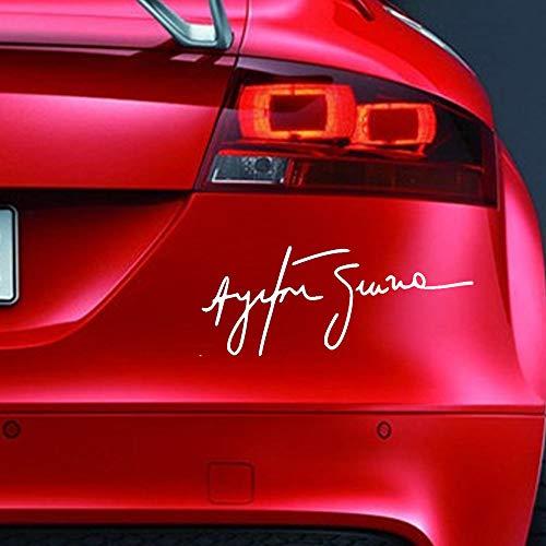 Ayrton Senna Signatur-Aufkleber, lustiger Auto-Aufkleber für Stoßstange, Motorsport, JDM EURO, Wohnwagen, Fahrrad, Roller, Neuheit Vinyl Signatur-stick
