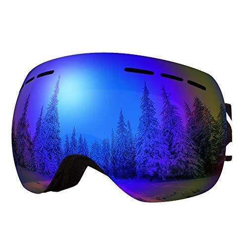 Bfull Skibrille Für Damen und Herren Kids brillenträger Skibrille 100{570d9481acb3543c2be4472b52ffa43b5920f4640c29b83b494f95deef8fc416} OTG UV400 Anti-Fog UV-Schutz Skibrillen Snowboard Skibrille Schutz Ski Gogglesvv