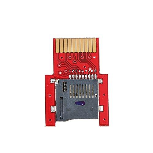 KKmoon sd2vita psvsd Adaptateur Micro SD Carte de transfert de mémoire pour PS Vita 10002000henkaku 3.60