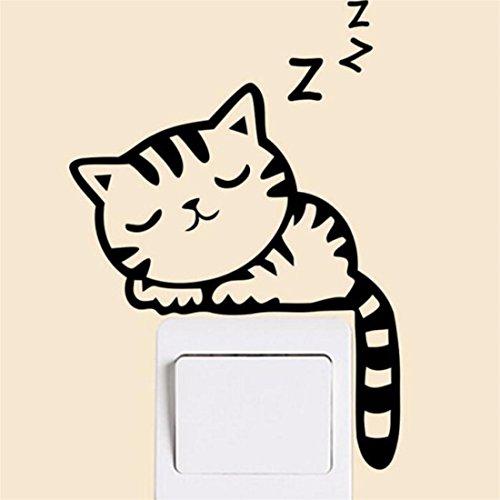 Wandsticker, New Katze Wand Sticker Lichtschalter Decor Aufkleber Kunst Wandbild Baby Kinderzimmer