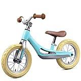 Bicicleta sin pedales Bici Bicicleta de Equilibrio de 3 años - Bicicleta de niños sin Pedales para niños/niñas/niños, Ruedas de 12 Pulgadas, Azul/Rosa (Color : Azul)