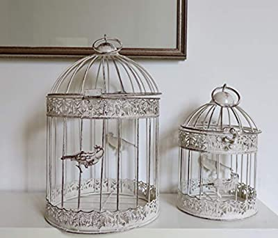 set 2 Round Bird Cages perfect for display by Link Products Limited
