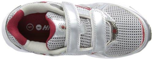 Hi-Tec  R156 Jnr Ez, Chaussures de running garçon Blanc - White/Red/Silver/Black