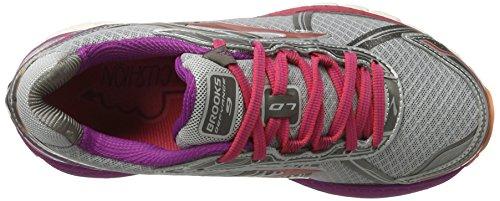 Brooks Defyance 9, Scarpe da Corsa Donna Multicolore (Silver/Charcoal/Paradisepink)