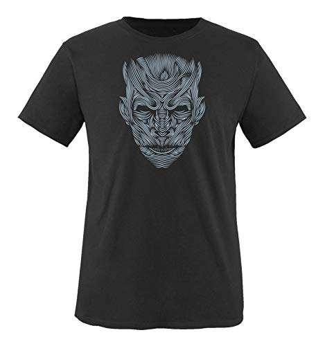 Just Style It - The Night King - Game of Thrones - Herren T-Shirt - Schwarz/Eisblau Gr. L