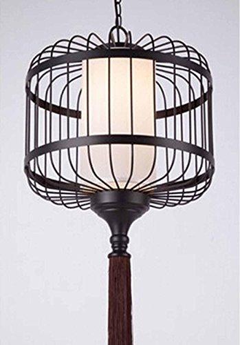 SSBY Lampadari di cinese-stile ferro battuto birdcage, lampada vintage hotel hall ristorante tè casa progetto pergamena