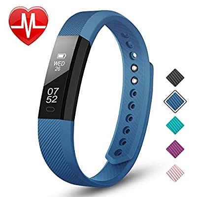 LETSCOM Fitness Tracker, All- Day Activity Tracker, Sleep Quality Monitor, Heart Rate Monitoring Smart Watch, Waterproof IP67 Pedometer Watch with Calorie Counter, Smart Bracelet for Men, Women, Kids by LETSCOM