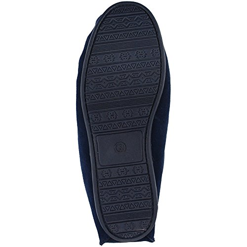 Mokkers, Pantofole donna Navy Blue Real Suede