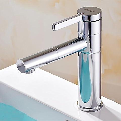 MCC Robinet de salle de bain cuivré cuisinière simple et froide bassin lavabo bassin robinet salle de bain multifonction peut être tourné à 360 degrés moderne