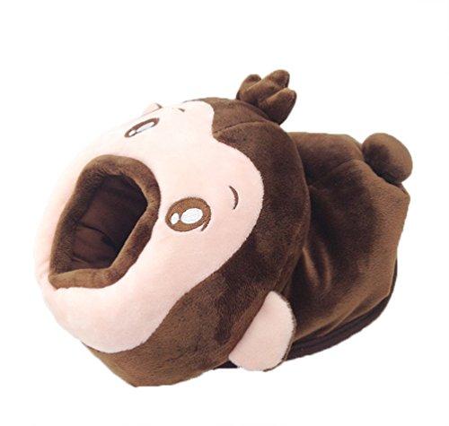 Preisvergleich Produktbild Nette Karikatur-warme Handunterstützung USB erhitzte Mausunterlage Winter-Plüsch-Verdickungs-Matte mit Handgelenk-Schutz für Büro und Haus (Affe)