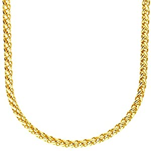 .iced-out. Sterling 925er Silber Bling Weizenkette – SPIGA 4mm Gold