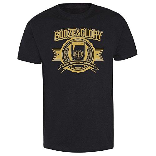 CONTRA Booze & Glory Heavy Drinking Brigade T-Shirt (M) (Herren Glory Shirt)