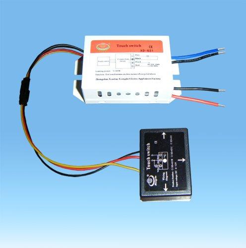 220V Ein / Aus-Spiegel isoliert Touch-Schalter für Energiesparlampe LED-Licht