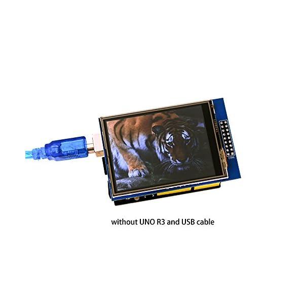 41lCFAIjNpL. SS600  - ELEGOO UNO R3 Pantalla Táctil TFT DE 2,8 Pulgadas con Tarjeta SD con Todos Los Datos Técnicos en CD para Arduino UNO R3