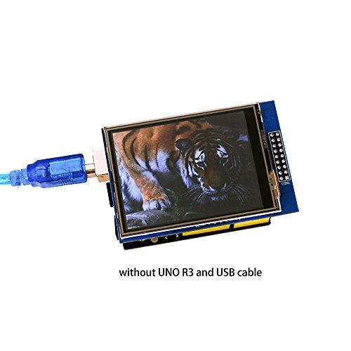 41lCFAIjNpL - Elegoo UNO R3 Pantalla Táctil TFT de 2,8 Pulgadas con Tarjeta SD con Todos Los Datos Técnicos en CD para Arduino UNO R3